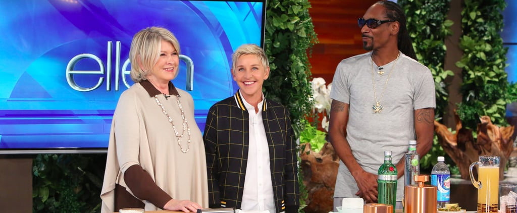Martha Stewart and Snoop Dogg Bring Their Food and Lots of Fun to the Ellen Show
