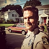 James Van Der Beek showed off his police officer getup for Labor Day. Source: Instagram user vanderjames