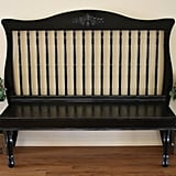 Upcycle Your Crib Into an Antique-esque Bench