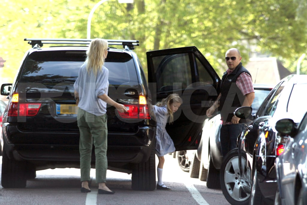 Gwyneth Paltrow with Apple Martin in London.