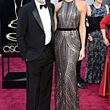 George Clooney and Stacy Keibler hit the red carpet at the Oscars in February 2013.