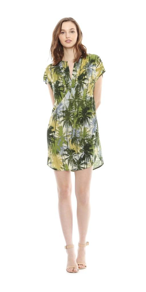 Joe Fresh Print Tunic Dress - Green