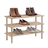 SALT 3-Tier Wood Shoe Rack
