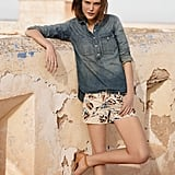 This Rivet & Thread snap shirt (from Madewell's capsule denim line) can easily pair with more polished pieces, like a pencil skirt, or more casual wares, like these cool printed shorts.