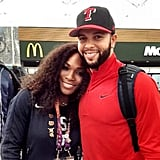 Deron Williams couldn't pass up the opportunity to pose for a photo with tennis great, and Olympic champ, Serena Williams. Source: Instagram user dwill8