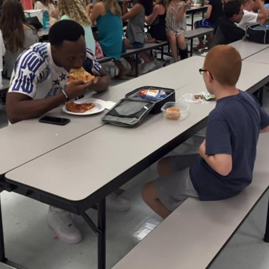 FSU Football Player Eats Lunch With Boy With Autism