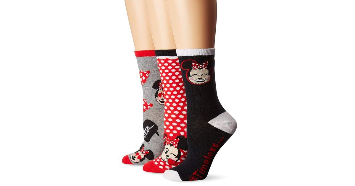 493addb242da8 Disney Women's Minnie Mouse 3-Pack Crew Socks | Best Disney Socks ...
