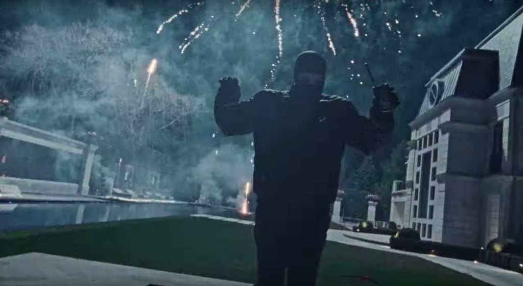 He Showed Off the Outside of His Mansion With a Little Help From Some Fireworks