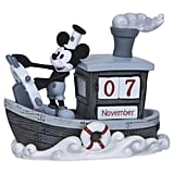 Precious Moments Mickey Mouse and Steamboat Willie Perpetual Calendar