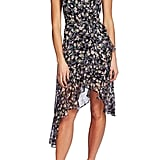 CeCe Botanical Charm Cascading Ruffle Sleeveless Dress