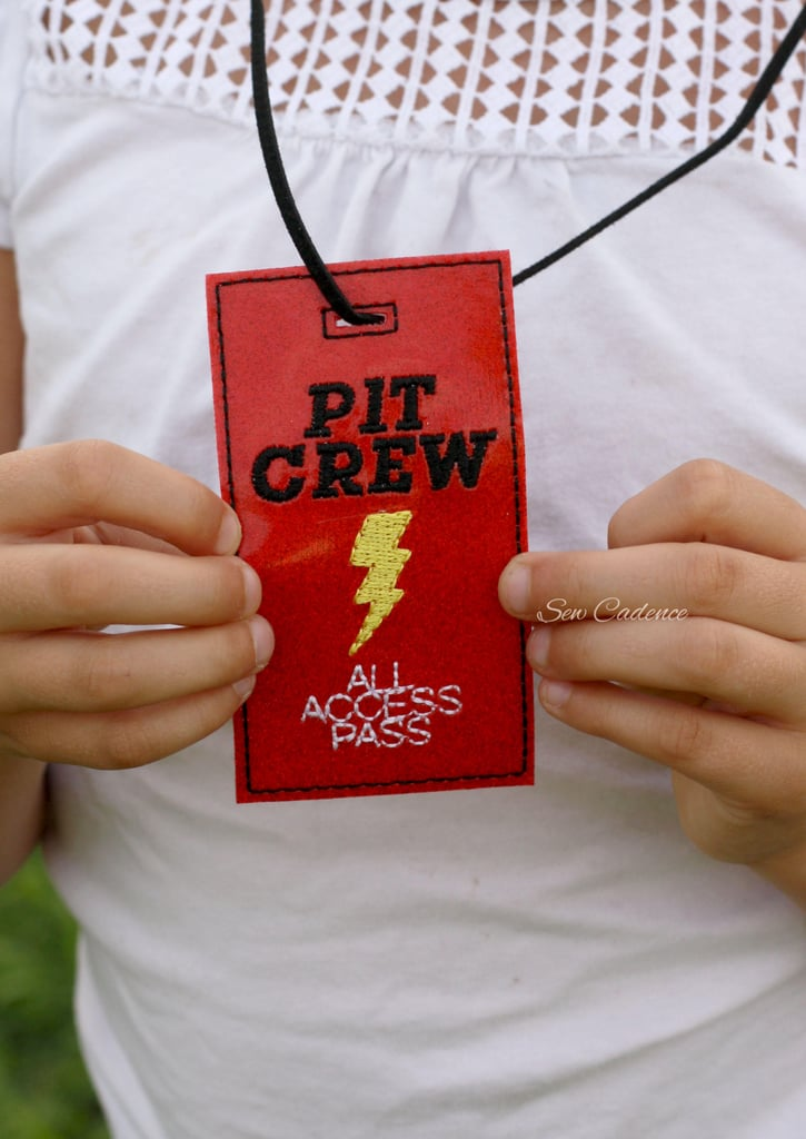 Lightning McQueen Pit Crew Badge ($8) & Lightning McQueen Pit Crew Badge ($8) | Disney Pixar Halloween ...
