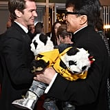 Pictured: Andrew Garfield and Jackie Chan