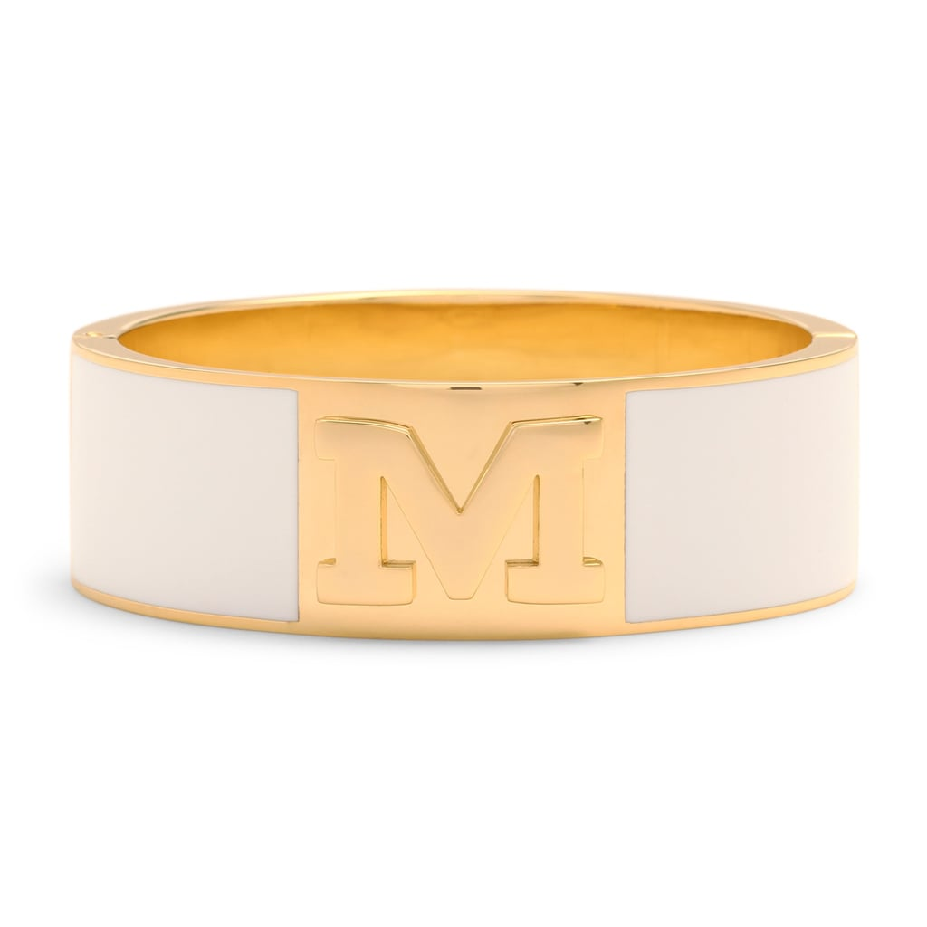 C. Wonder Wide Enamel Initial Bangle