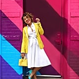 Throw a Bright Blazer and Close-Toed Shoes Over Your LWD