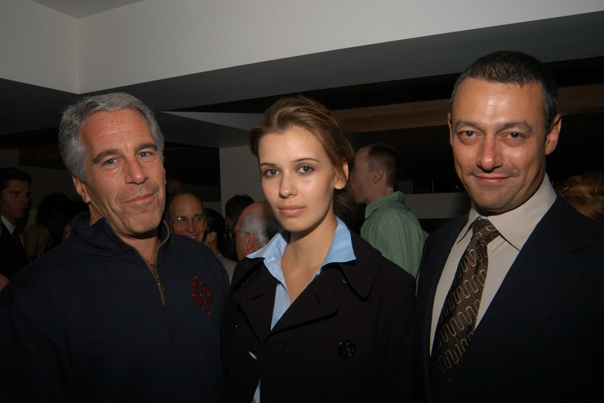 NEW YORK, NY - MAY 18: (L-R) Jeffrey Epstein, Adriana and Maer Roshan attend Launch of RADAR MAGAZINE at Hotel QT on May 18, 2005. (Photo by Neil Rasmus/Patrick McMullan via Getty Images)