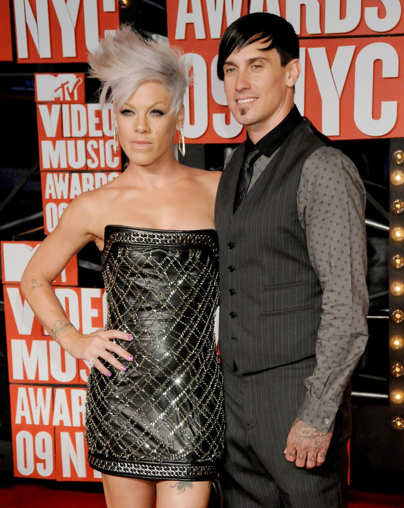2009: Pink showed up in a supersexy Balmain minidress with Carey . . .