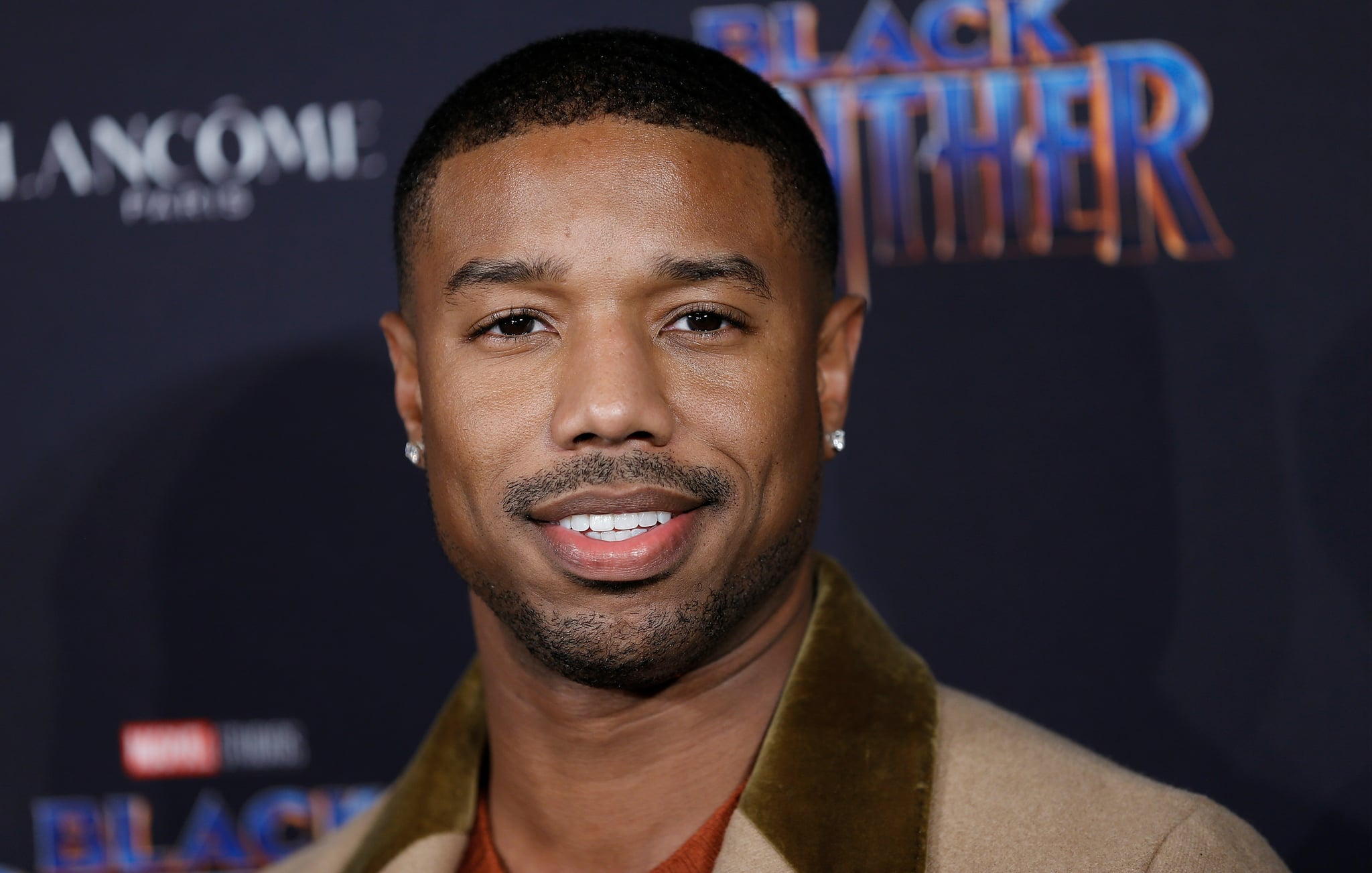 NEW YORK, NY - FEBRUARY 12:  Michael B. Jordan  attends Marvel Studios Presents: Black Panther Welcome To Wakanda during February 2018  New York Fashion Week: The Shows at Industria Studios on February 12, 2018 in New York City.  (Photo by John Lamparski/WireImage)