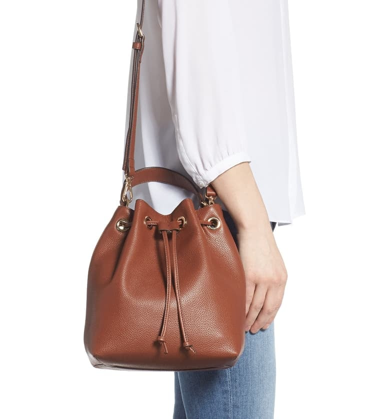 Nordstrom Delilah Leather Bucket Bag