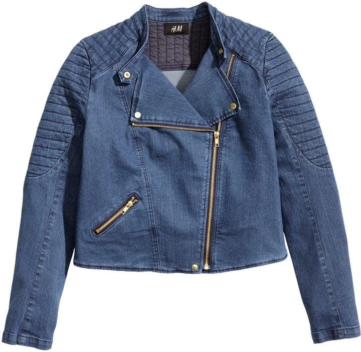H&M Denim Moto Jacket