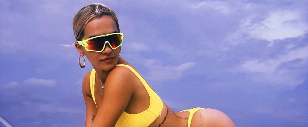 Rita Ora's Yellow Bikini