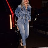 Kylie Jenner's Denim Jumpsuit November 2018