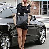 Jessica Simpson shopped at Saks.