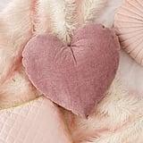 Corduroy Heart Throw Pillow