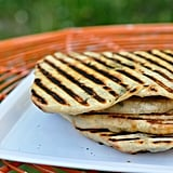 Grilled Flatbreads Stuffed With Cheese and Herbs