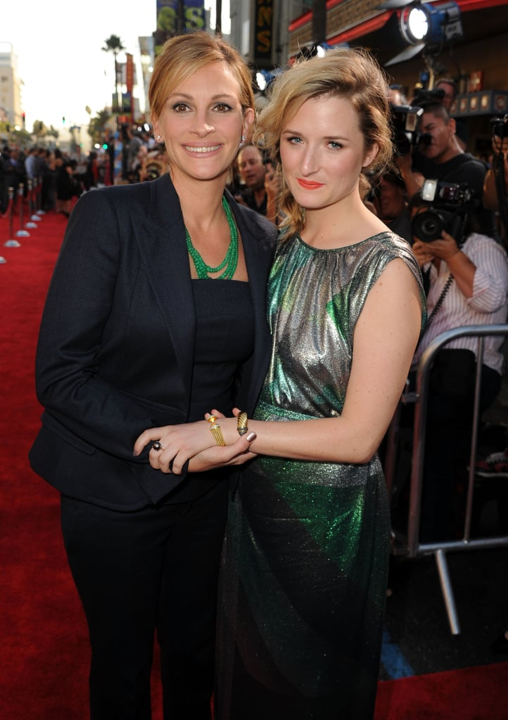 Julia Roberts and Meryl Streep's daughter Grace Gummer pose at the LA premiere of Larry Crowne.