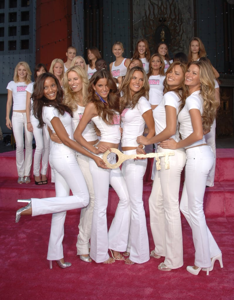 Gisele Showed Off Her White Flares With the Rest of the VS Angels