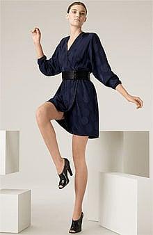MARC JACOBS Spot Jacquard Silk Wrap Dress - Nordstrom