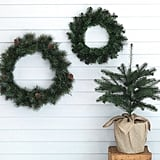Vinterfest Large Green Indoor/Outdoor Round Artificial Wreath