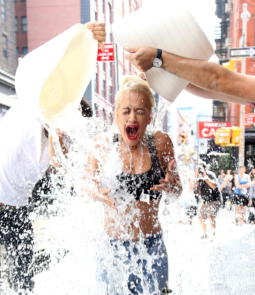 Alice Amter is seen on September 1, 2014 doing the ALS Ice ...