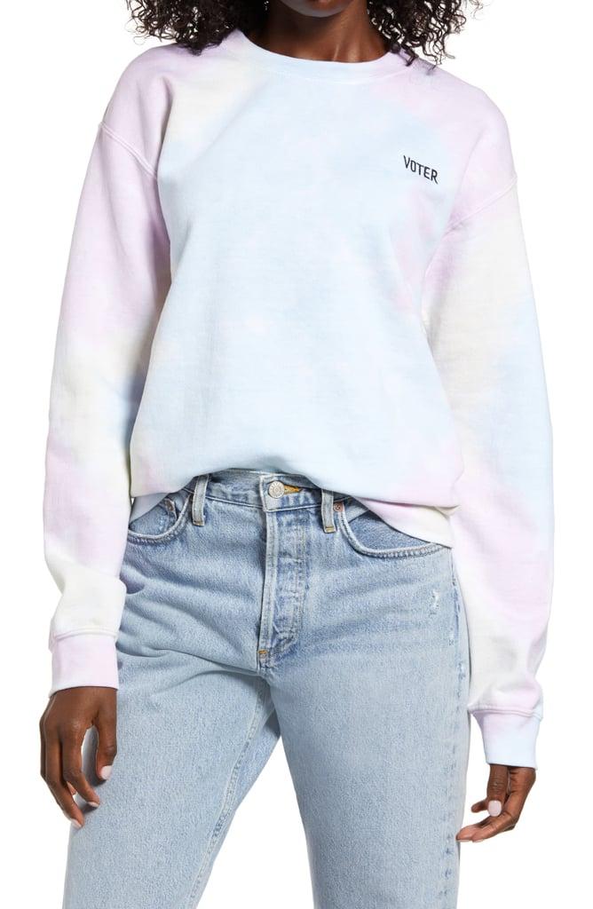 Treasure & Bond Tie Dye Vote Sweatshirt