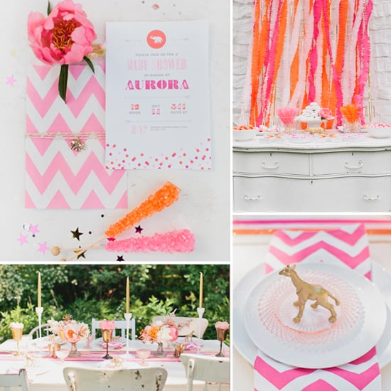 pink and gold baby shower popsugar moms