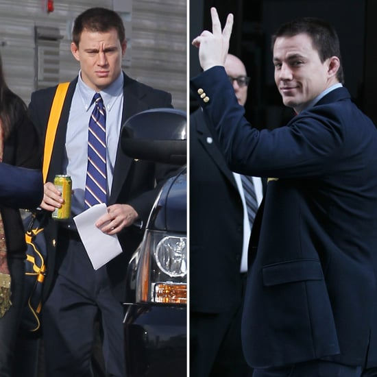 Channing Tatum Reports to Work on His New Set as Sexiest Man Alive