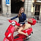 Olivia Palermo was snapped while shooting a Carrera y Carrera ad. Source: Twitter user TheRealOliviaP