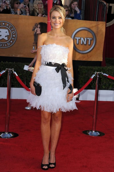White Dresses on Celebrities at the Screen Actors Guild Awards 2010