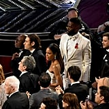 "Meanwhile, the Moonlight cast is like, ""Wait . . . we won?!"" The confusion is so real."