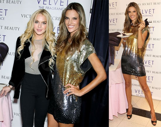 Photos of Alessandra Ambrosio and Lindsay Lohan at the Velvet Fragrance Launch in NYC