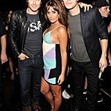 Lea Michele struck a sexy pose alongside The Vampire Diaries's Ian Somerhalder and Paul Wesley in 2014.