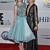Miss Golden Globe Greer Grammer hung out with her older sister, Spencer, at NBC's afterparty.