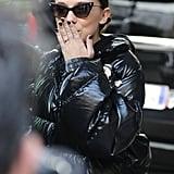 Millie Bobby Brown's Black Nail Polish In February 2018