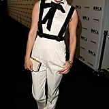 Chloë Sevigny showed off her eclectic style sense in a white and black Chanel jumpsuit.