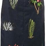 Stella McCartney cactus embroidered pencil skirt ($1,195)
