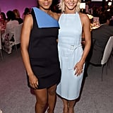 Kerry Washington and Julianne Hough met up inside the event.