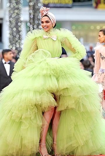 Deepika Padukone Green Dress at Cannes 2019