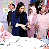 Meghan Markle Speaking French on Morocco Tour February 2019