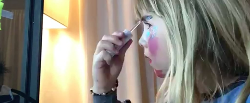 Pink's Daughter Willow Films First Makeup Tutorial