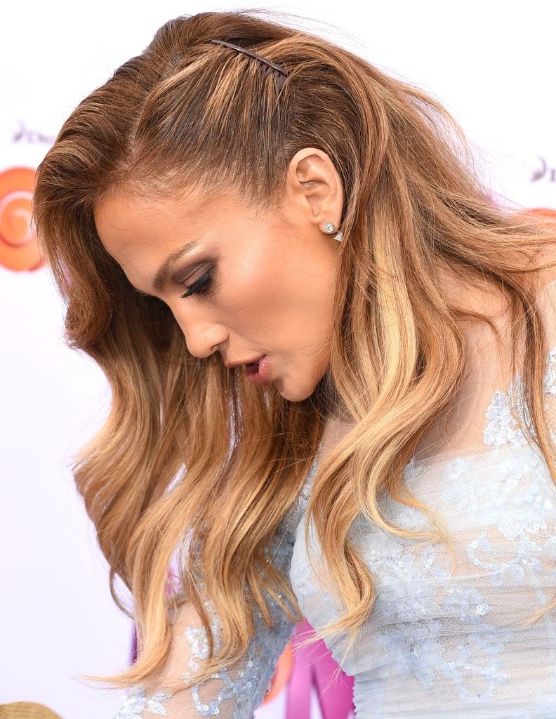 Jennifer Lopez's Pinned-Back Hair in 2015
